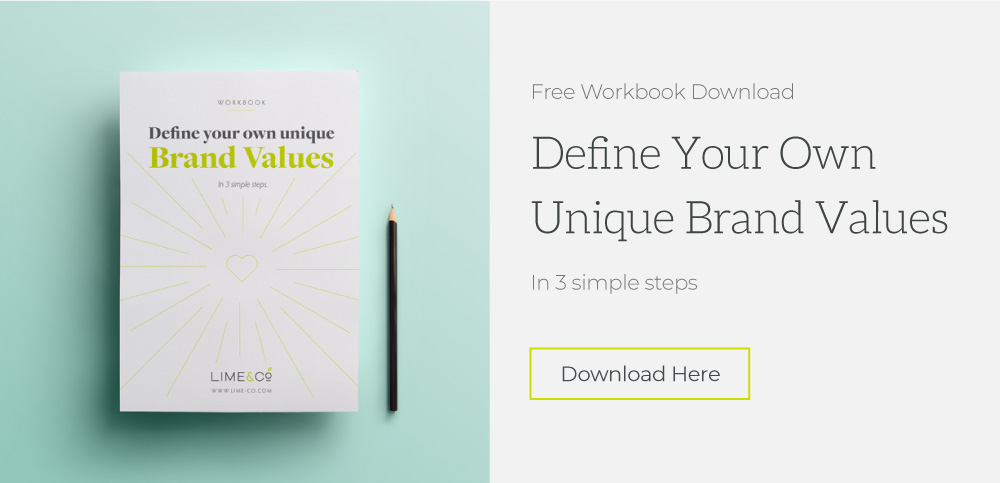 picture fo Freebie Workbook Define your one brand values