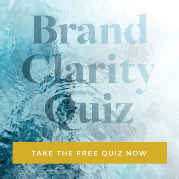 Large letters Brand Clarity Quiz: Take the free quiz now, over water image