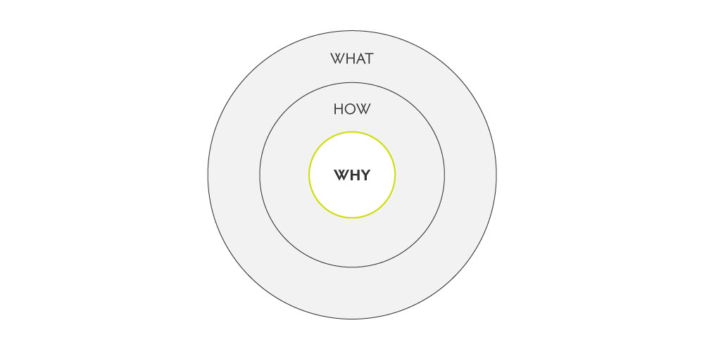 circle with writing what how why