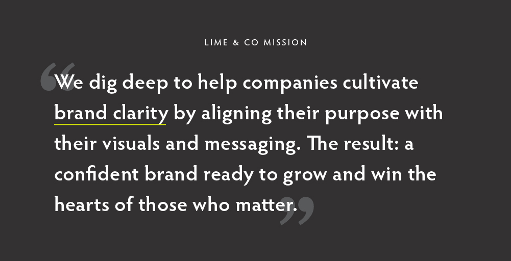 Lime & Co Mission Statement graphic