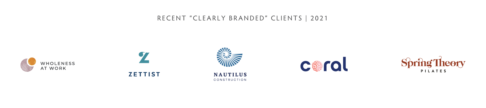 recent clearly branded clients logos, 2021